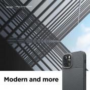Elago Cushion Case - удароустойчив силиконов (TPU) калъф за iPhone 12, iPhone 12 Pro (сив) 1