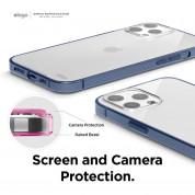Elago Hybrid Case - хибриден удароустойчив кейс за iPhone 12 Pro Max (тъмносин) 4