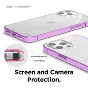 Elago Hybrid Case - хибриден удароустойчив кейс за iPhone 12 Pro Max (лилав) 4