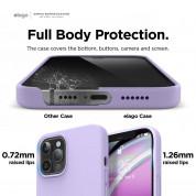 Elago Soft Silicone Case - силиконов (TPU) калъф за iPhone 12 Pro Max (лилав) 4
