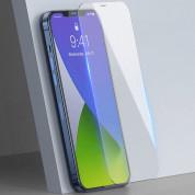 Baseus Full Screen Tempered Glass (SGAPIPH61P-LS02) - стъклено защитно покритие за целия дисплей на iPhone 12, iPhone 12 Pro (прозрачен) (2 броя) 2