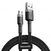 Baseus Cafule Cable USB For Micro 1.5A  2M (gray-black)