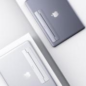 Baseus Papery Self-Adhesive Aluminum Laptop Stand - сгъавема, залепяща се към вашия компютър поставка за MacBook и лаптопи (сребрист) 5