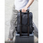 Baseus Basics Series 13 Laptop Backpack (LBJN-E0G) - стилна раница за Macbook Pro 13, Air 13 и лаптопи до 13 инча (тъмносив) 10