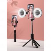 Baseus Lovely Fill Light Accessories - допълнителна LED светлина за Baseus Lovely Wireless Bracket Bluetooth Tripod Selfie Stick (черен) 4
