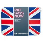 Pat Says Now UK Laptop Sleeve - неопренов калъф за MacBook Air 11 и лаптопи до 11 инча 1