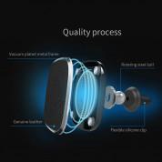 Nillkin 2-in-1 Magnetic Qi Vent Holder & Leather Case - комплект кожен кейс и магнитна поставка с безжично зареждане за вентилацията на кола за iPhone XS, iPhone X (кафяв) 5