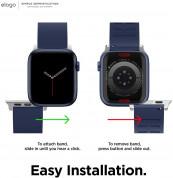 Elago Watch Sport Fluoro Rubber Strap for Apple Watch 42mm, 44mm (jean indigo) 3