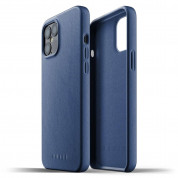 Mujjo Full Leather Case for iPhone 12 Pro Max (blue) 1