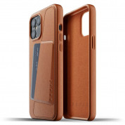 Mujjo Leather Wallet Case for iPhone 12 Pro Max (tan) 1