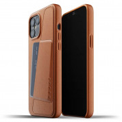 Mujjo Leather Wallet Case for iPhone 12 Pro Max (tan)