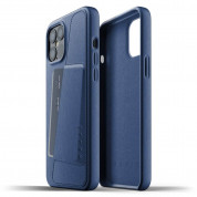 Mujjo Leather Wallet Case for iPhone 12 Pro Max (blue) 1
