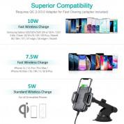 Choetech Wireless Charger Stand - поставка за кола с безжично зареждане за Qi съвместими смартфони (черен) 4