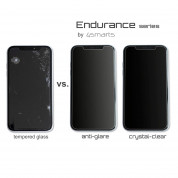 4smarts Hybrid Glass Endurance Crystal Screen Protector for iPhone 12 Pro Max (black-clear) 2