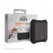 Eiger North AirPods Protective Case - удароустойчив силиконов калъф за Apple Airpods и Apple Airpods 2 (черен)