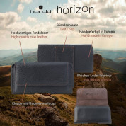 Honju Horizon Belt Leather Case Universal 3XL Slim - кожен (естествена кожа) калъф за iPhone 12/12 Pro, iPhone 11/11 Pro, iPhone X/XS, iPhone 8 Plus, iPhone 7 Plus и смартфони до 6.1 инча (черен) 11