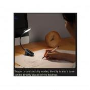 Baseus Comfort Reading Mini Clip LED Lamp - настолна LED лампа със щипка (бяла светлина) 4