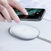 Baseus Jelly Wireless Charger (WXGD-02) - поставка (пад) за безжично зареждане с технология за бързо зареждане (15W) за Qi съвместими устройства (бял) 4