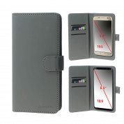 4smarts Universal Flip Case UltiMAG URBAN Lite XL - кожен калъф с поставка и отделение за кр. карта за смартфона до 6.5 инча (сив) 1