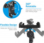 Macally Dual Position Car Seat Headrest Mount - поставка за смартфон или таблет за седалката на автомобил (черен) 10