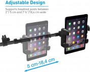 Macally Dual Position Car Seat Headrest Mount - поставка за смартфон или таблет за седалката на автомобил (черен) 13