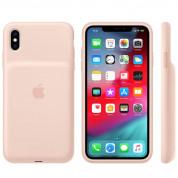 Apple Smart Battery Case - оригинален кейс с вградена батерия за iPhone XS (розов пясък) 1