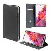 4smarts Flip Case URBAN Lite - кожен калъф с поставка и отделение за кр. карта за Samsung Galaxy S20 FE, Galaxy S20 FE 5G (черен)