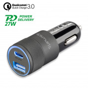 4smarts Car Charger Rapid+ 27W with Quick Charge with PD (black)
