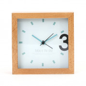 Platinet Zegar Alarm Clock Wooden April - часовник с будилник (кафяв) 1