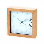 Platinet Zegar Alarm Clock Wooden April - часовник с будилник (кафяв) 2