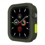 SwitchEasy Colors Case - термополиуретанов удароустойчив кейс за Apple Watch 40mm (тъмнозелен)