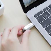 Hoco Premium 128GB USB-C Male Flash Drive + USB 3.0 Female - USB флаш памет с USB-C порт за компютри смартфони и таблети (сребрист) 1