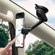 Hoco S12 Wireless Charging Car Holder - поставка за кола с безжично зареждане за Qi съвместими смартфони (черен-сребрист) 8