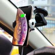 Hoco CA48 Automatic Induction Wireless Charging Car Holder - поставка за кола с безжично зареждане за Qi съвместими смартфони (черен) 7
