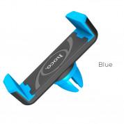 Hoco CPH01 Air Vent Mobile Holder - поставка за радиатора на кола за смартфони с дисплеи до 5.5 инча (черен-син)