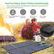 Сгъваем соларен панел 40W зареждащ директно вашето устройство от слънцето - Allpowers Solar Charger 40W (черен) 7