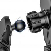 Baseus Light Electric Holder Wireless Charger Car Mount - поставка за радиатора и таблото на кола с безжично зареждане за Qi съвместими смартфони (черен) 4