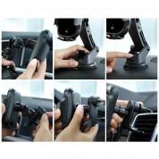 Baseus Light Electric Holder Wireless Charger Car Mount - поставка за радиатора и таблото на кола с безжично зареждане за Qi съвместими смартфони (черен) 10