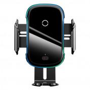 Baseus Light Electric Holder Wireless Charger Car Mount - поставка за радиатора и таблото на кола с безжично зареждане за Qi съвместими смартфони (черен)