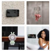 Baseus Universal Gel Pad Smartphone Mount Holder & Cable Organiser - лепяща се силиконова поставка за гладки повърхности за мобилни телефони (прозрачен) 3
