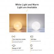 Baseus Intelligent Induction Nightlight - нощна LED лампа (топла светлина) 6