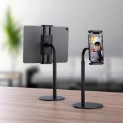 Hoco PH30 Metal Desktop Stand - универсална поставка за бюро и плоскости за мобилни устройства и таблети с ширина до 10 инча (бял) 4