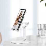 Hoco PH34 Folding Desktop Stand - сгъваема поставка за бюро и плоскости за мобилни устройства и таблети с ширина до 13 инча (бял) 1