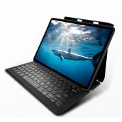 Mako Go Type Qwerty Rugged Keyboard Case - безжична клавиатура, кейс и поставка за iPad Mini 5 (2019), iPad Mini 4 (черен)
