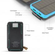 Сгъваем соларен панел с вградена батерия - Allpowers Solar Charger 7.5W + 20000mAh PowerBank (черен-син) 4