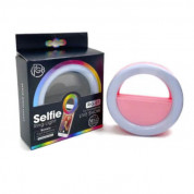 Selfie Ring Light RG-01 - LED селфи ринг за смартфони (розов)