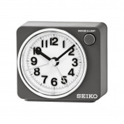 Seiko QHE122S Beep Alarm Clock with Snooze & Light - часовник с будилник (сребрист)