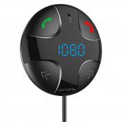 4smarts Bluetooth FM Transmitter - блутут FM трансмитер с поставка и зарядно за кола за мобилни устройства (черен) 5