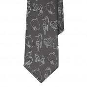 Дизайнерска вратовръзка - Mamas Boy Chickens Black (черен) 1