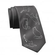 Дизайнерска вратовръзка - Mamas Boy Gray Cat (черен)